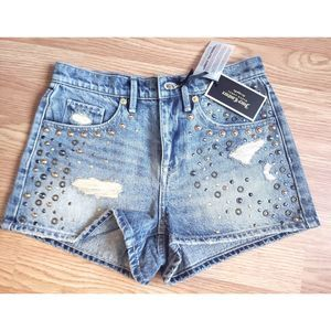Juicy Couture embellished Jean Shorts